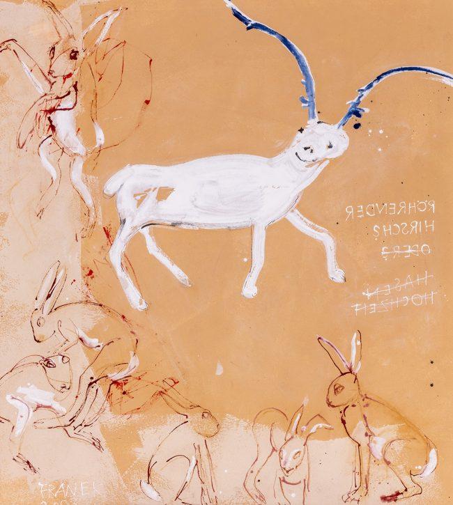 Röhrender Hirsch (Hasenhochzeit)