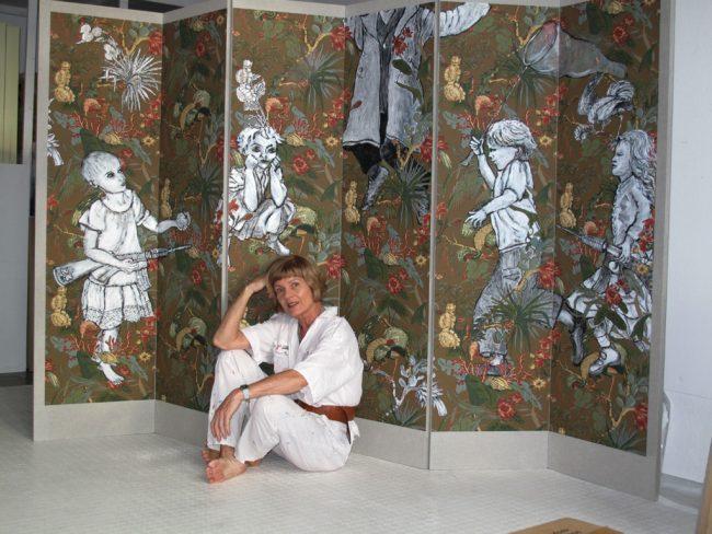 Paravent im Atelier Berlin