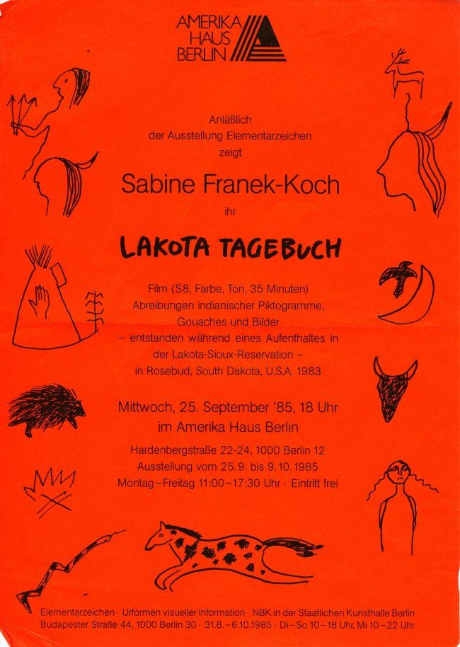 Lakota Tagebuch im Amerika Haus Berlin