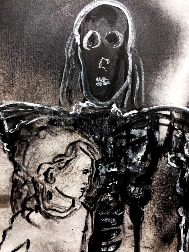 Detail of Cyborg Death and the Maiden
