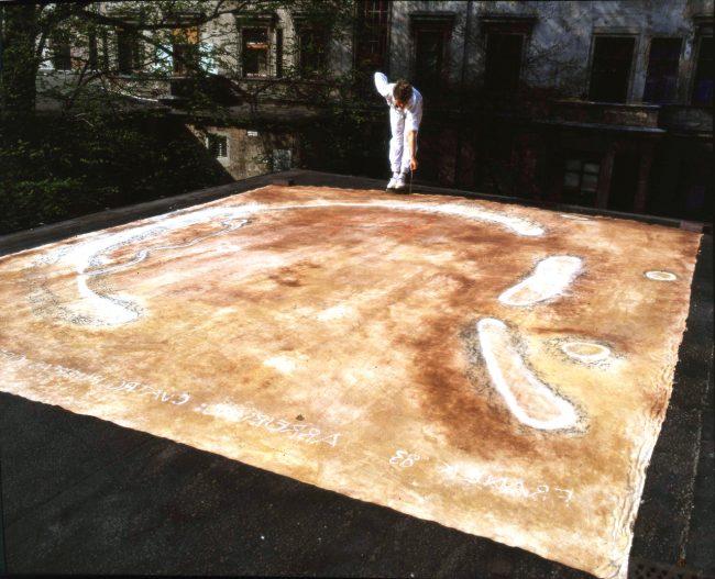 Verlagerung eines Opferplatzes auf ein Dach in Berlin